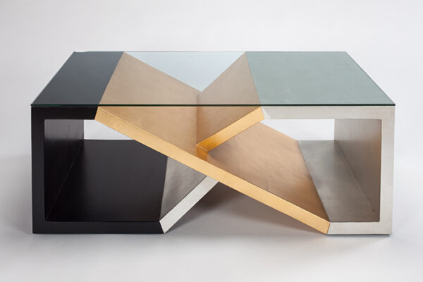 Gold Silver Coffee Table