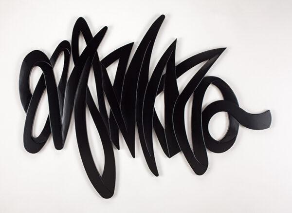 Artmax Black Strokes Wall Art