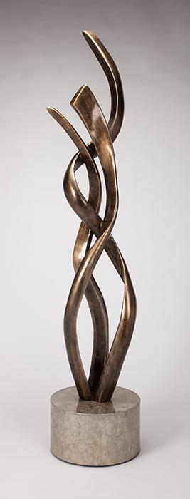 Artmax Bronze Waves Floor Sculpture
