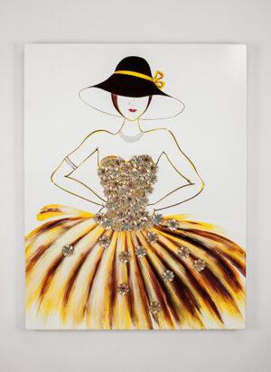 Artmax Elegant Lady Wall Art
