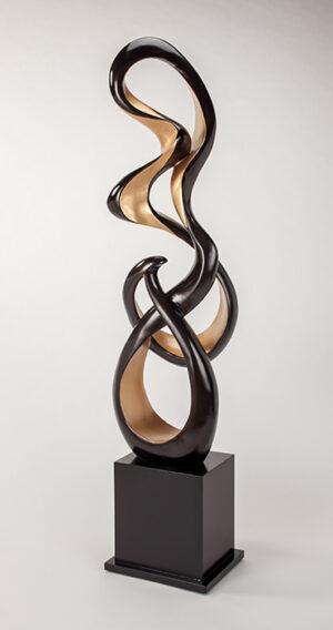 Artmax Gold Black Floor Sculpture