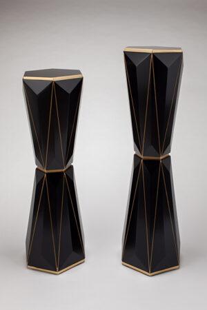 Artmax Gold Black Pedestals