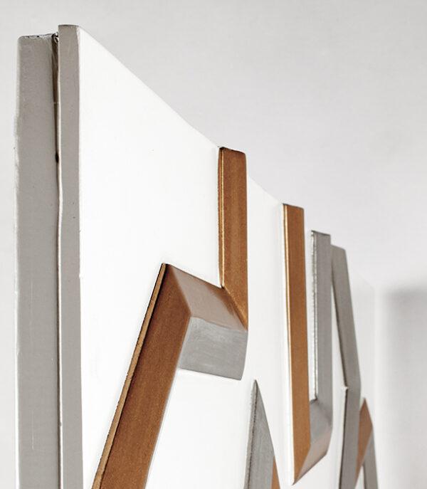 Artmax Gold Lines Wall Art