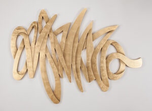 Artmax Gold Strokes Wall Art