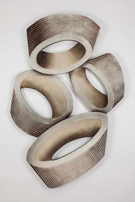 Artmax Metallic Cylinders Wall Art