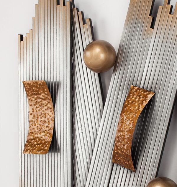Artmax Metallic Wood Wall Art