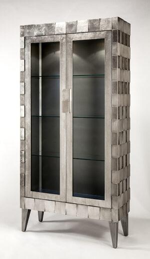 Artmax Silver Curio Cabinet