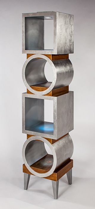 Artmax Silver Gold Etagere