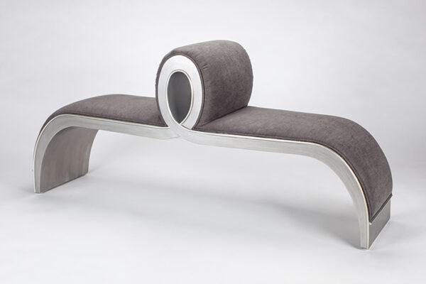 Artmax Silver Gray Bench