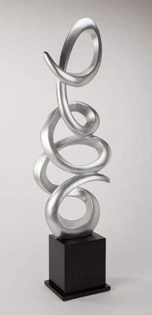 Artmax Silver Loops Floor Sculpture