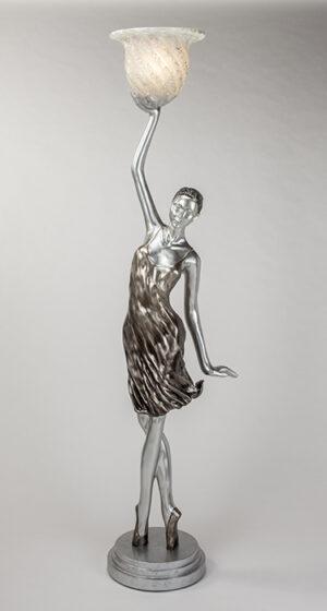 Artmax Silver Woman Floor Lamp