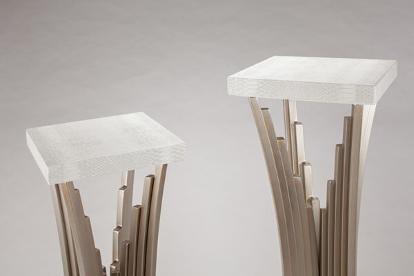 Artmax White Ivory Pedestals