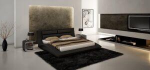 JM The Wave Black Bedroom Set