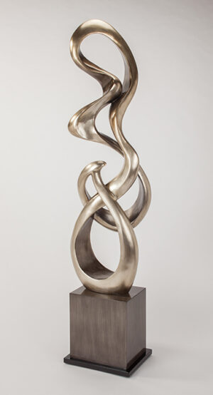 Silver Curves Floor Sculpture