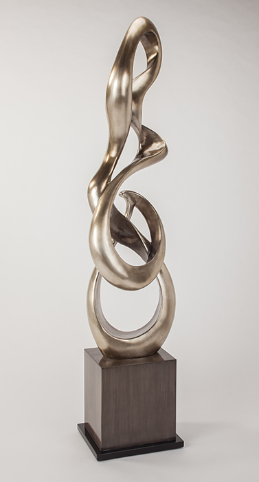Silver Curves Floor Sculpture