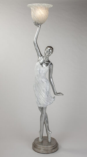 Silver White Woman Floor Lamp
