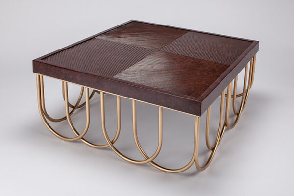 Artmax Brown Square Coffee Table