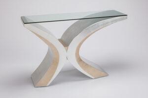 Artmax Champagne Silver Console Table