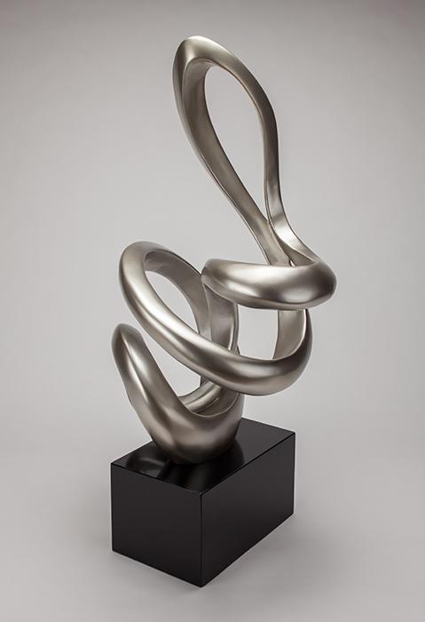 Artmax Silverleaf Black Sculpture