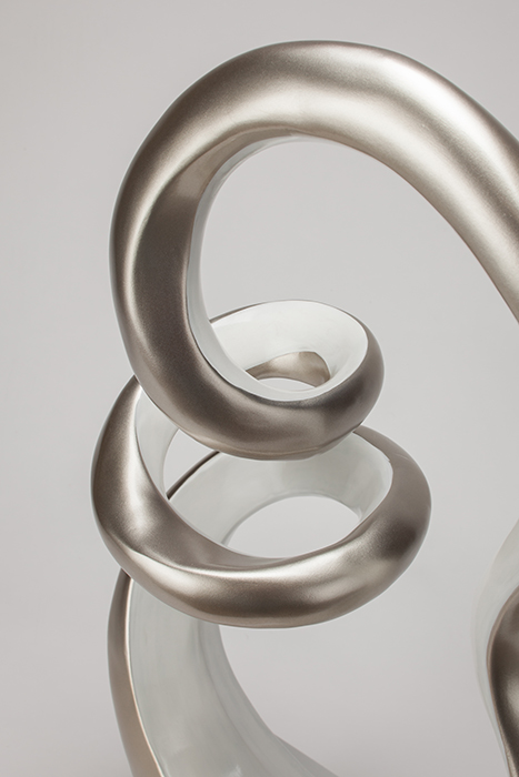 Artmax Silver White Sculpture