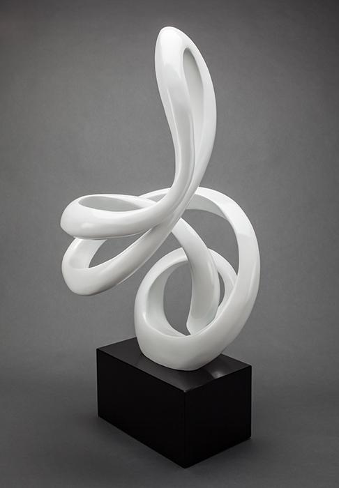 Artmax White Loops Sculpture