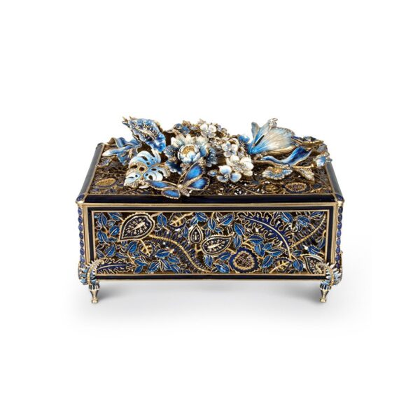 Jay Strongwater Genevieve Floral Chest