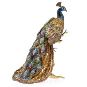 Jay Strongwater Peabody Peacock On Branch
