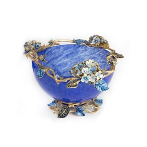 Jay Strongwater Sophie Blue Glass Bowl
