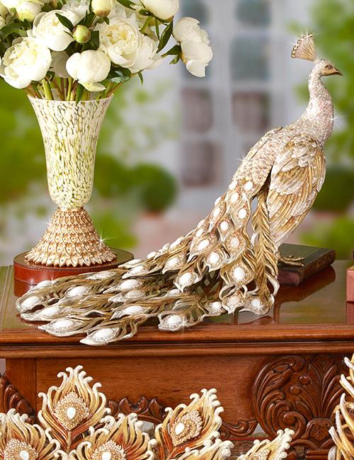 Jay Strongwater Theseus Cream Peacock