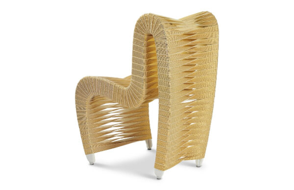 Seat Belt Dining Chair Gold