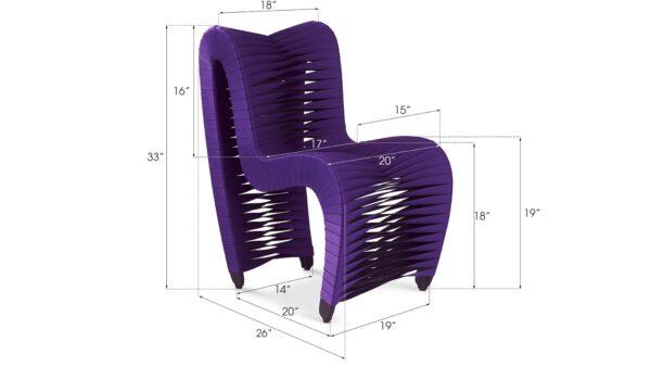 Seat Belt Dining Chair Purple
