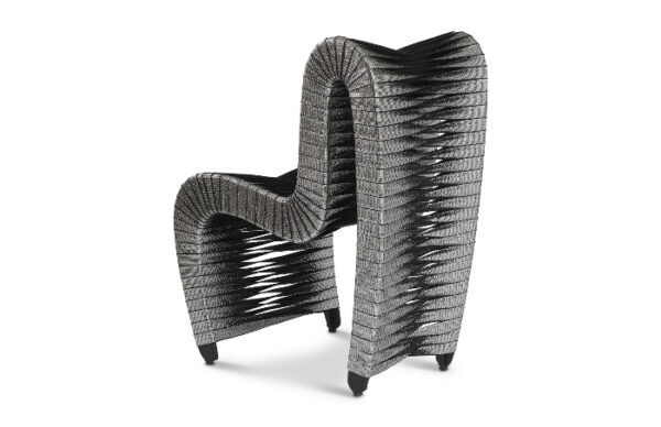 Seat Belt Dining Chair Silver