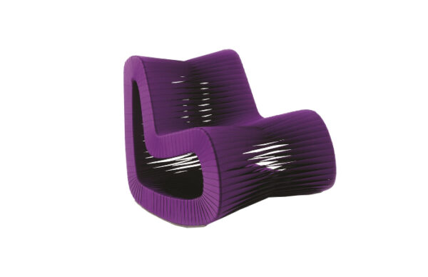 Seat Belt Rocking Chair Purple