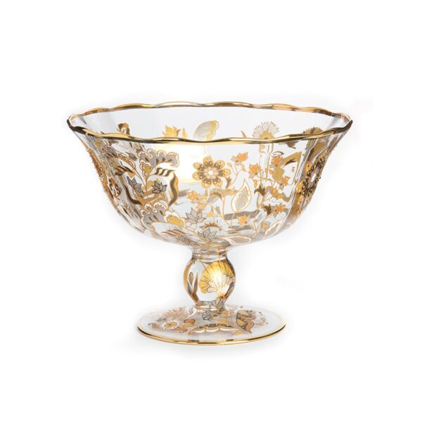 Jay Strongwater Adriana Floral Bowl