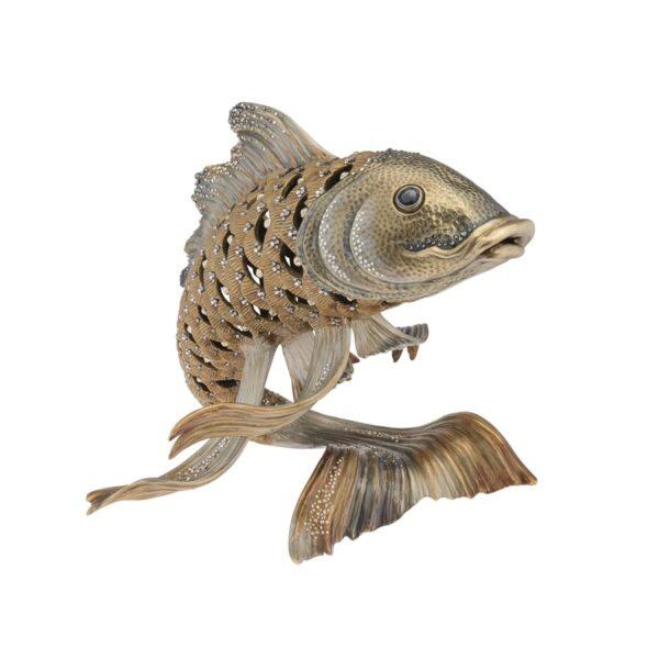 Jay Strongwater Asagi Koi Fish Figurine