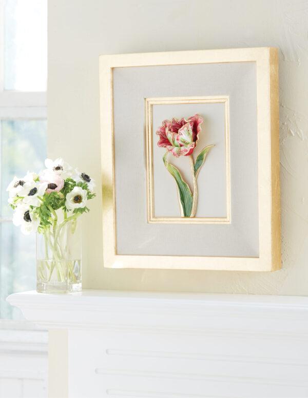 Jay Strongwater Brooke Tulip Wall Art