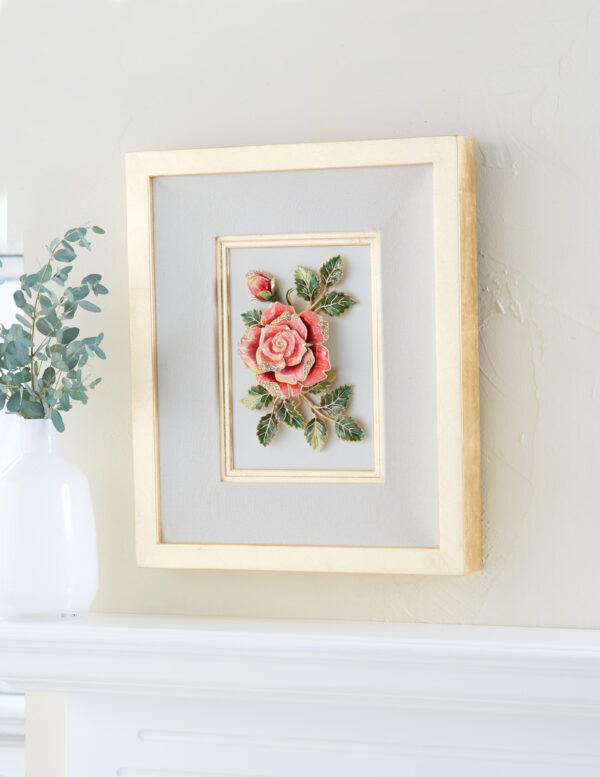 Jay Strongwater Sibylla Rose Wall Art