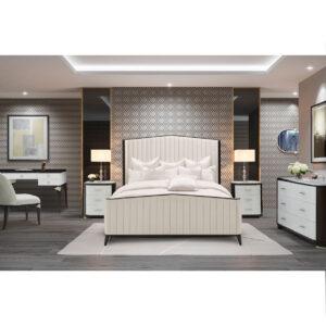 Paris Chic Tufted Panel Bed
