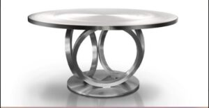 Metall Furniture Athens Round Dining Table