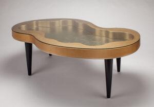 Artmax Golden Coffee Table