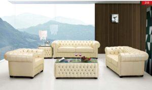 ESF 258 Full Leather Living Room Set