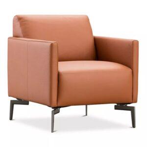 Nicoletti Orange Leather Chair