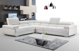 ESF 2119 White Sectional