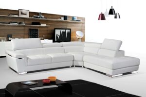 ESF 2383 White Sectional