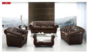 ESF 262 Full Leather Living Room Set
