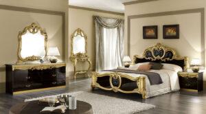 ESF Barocco Black Bedroom Collection